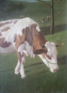 Unknown artist - Cows in the Pasture