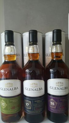 3 bottles - Glenalba set - 35 years 27 years and 22 years