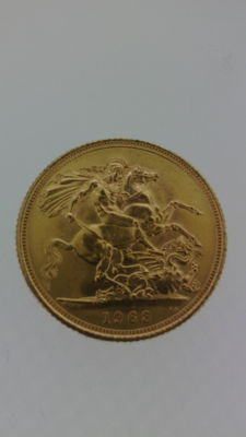 Great Britain 1 Sovereign gold 1963 London mint