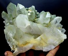 Large Green Chlorite included Quartz Crystal Cluster - 150 x 118 x 90 mm - 1566gm