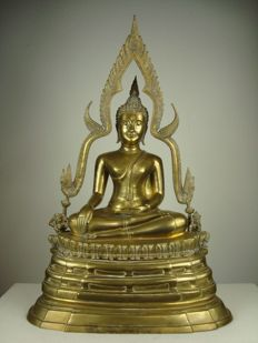 Large bronze Buddha - Thailand - second half of the 20th century
