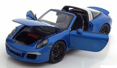 Schuco - Scale 1/18 - Porsche 911 (991) GTS Targa 4 2015 - Colour blue Metallic
