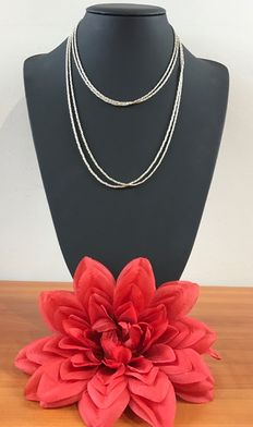 Silver cord necklace, 925k
