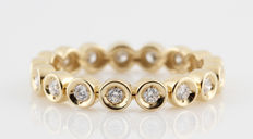 "14kt. diamond eternity ring 0.34ct. Top Wesselton- Wesselton (G-H) VVS2-VS1, size 59,5 ""NEW"""