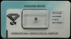 0.19 ct Natural Fancy Deep Purplish Pink Diamond – NO RESERVE