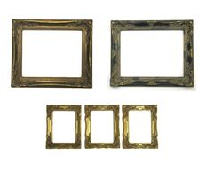 5 pieces of display frames, end of the 20th century