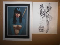 2 prints by Tanino Liberatore 1985 - 2006