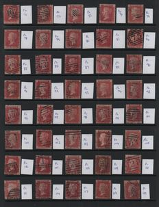 Great Britain Queen Victoria 1841/1856 - Selection on 2 Stock Pages