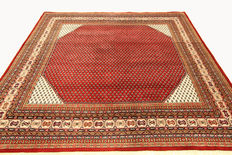 Beautiful Indo Sarough Mir Oriental carpet (243 x 246 cm), hand-woven, from India, 100% wool, new, top condition