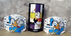 Samuel Parker for Slamp – lot of three (3) lamps – Donald Duck & Cartoon Network