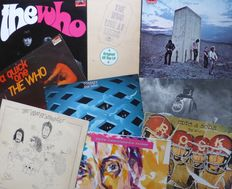 Lot of 8 early albums from The Who, plus double demo album by Pete Townsend (total 12 lp's) including Tommy (2), Quadrophenia (2), Who's Next, The Who, Live at Leeds etc mostly VG+/VG+