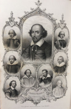 William Shakespeare - The complete work of Shakspere - 9 volumes - 1843/1844