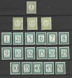 Curaçao 1892/1952 – Selection of postage stamps, including English print and plate error