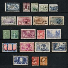 France 1900/1930 – Orphelins series, Expo Paris, La Rochelle, Jacques Cartier, Ader – 21 stamps