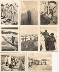 Third Reich; Lot of 76 original great war pictures, German army in Norway, Greece, Crete, Russia, Caucasus, WW II.