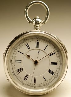 English CHRONOGRAPH pocket watch - Men's watch - 1890