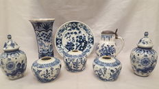 Delft blue cabinet set - Second half 20th century - Netherlands - good condition