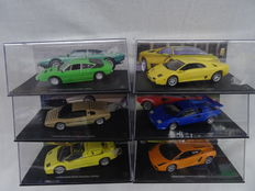 Altaya - Scale 1/43 - Lot with 6 Lamborghini models Gallardo, Diablo, Countach, Urraco, Bravo Bertone and Diablo Roadster