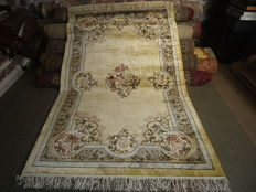 CHINESE NEW SILK CARPET shiny as gold 155 x 270