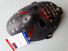 "Friday the 13th - Jason Voorhees signed mask - signed by Jason Voorhees actor Ari Lehman from part 1 with extra inscription ""I Run Camp Crystal Lake!"""
