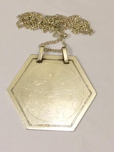 Silver octagonal pendant - Austria - first half of the 20th century