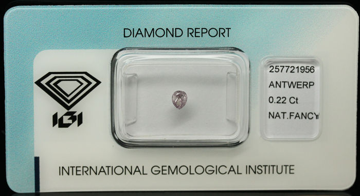 0.22 ct Natural Fancy Grey Purplish Pink Diamond – NO RESERVE