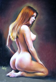 Original artwork; Domingo Álvarez - Nude - 21st century