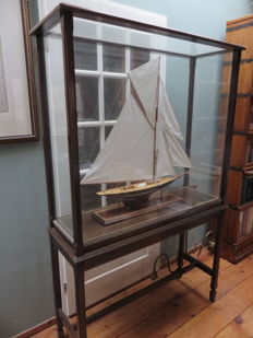 "An 1895 exhibition standard presentation model of the America's Cup Challenger ""Valkyrie III"""