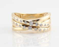 14kt. diamond ring 0.25ct & Top Wesselton- Wesselton (G-H)-VVS2-VS1. ring size 57 & 6.40gr.