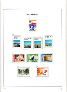 The Netherlands 1981/2001 – Collection of stamps and First Day Covers in Davo albums.