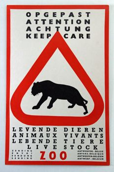 Anonynous - Opgepast! (Beware!) Living animals - approx. 1950
