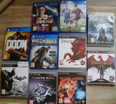 Lot of 4 PS4 and 6 PS3 games