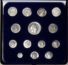 Ancient greek coins collection: DRACHMAS AND OBOLS (Greece ~2000)