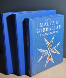 Channel Islands - Collection with Malta, Gibraltar Jersey and Isle of Man in 3 albums.
