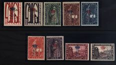 "Belgio 1929 Orval Series - Overprint ""L"" Corrone - Catalogue COB N. 272A/72K"