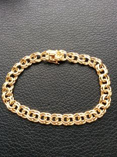 18K gold bracelet Bismarck from 1962 Sweden ***No reserve price***