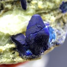 Rare Deep Blue Afghanite Crystals with Pyrite & Calcite - 65 x 45 x 41 mm - 230 gm