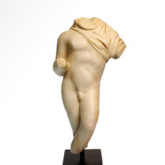 Roman Marble Figure of a Nude Young Man - 12.9 cm H