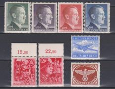 German Reich 1941/1945 - 5 year sets - Michel 762/910
