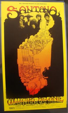 Santana  Live at the Fillmore West 1969 Fillmore Poster San Francisco