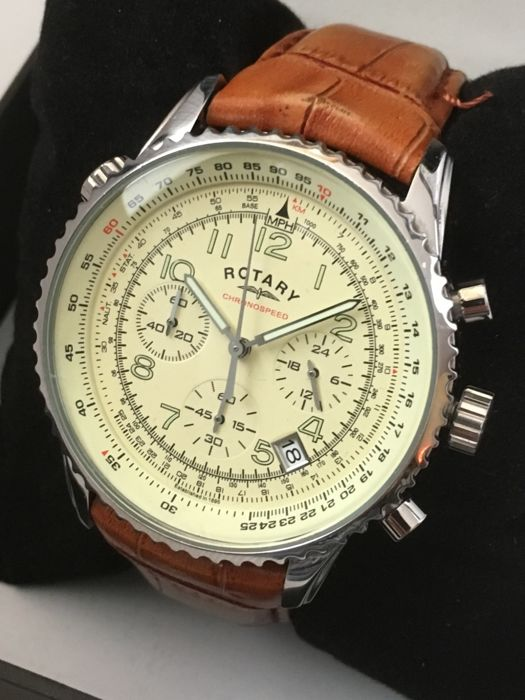 "Rotary ""Chronospeed Chronograph"" – men's dress watch – unworn, mint condition."