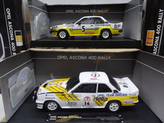 Sun Star - Scale 1/18 - Lot with 2 Opel Ascona 400 Rally models