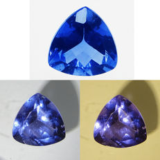 Colour-changing Blue Fluorite, 8.56 ct