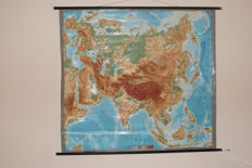 Old school 3D school poster/school map Arabia and Asia