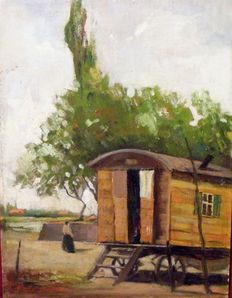 Merio Ameglio  (1897-1970) - Gypsies wagon