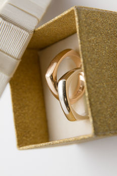 2 18k White gold and Rose gold rings