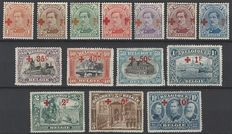 Belgium – OBP numbers 150 through 163, Red Cross 1918, on types of issues 1915