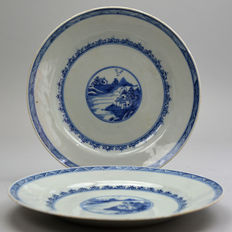 Porcelain Qianlong plates - China - 18th century
