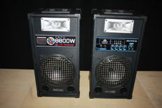 Set of active disco speakers