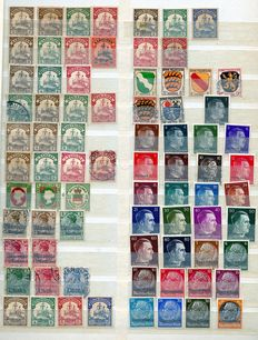 Deutsches Reich and territories – Selection of stamps in a stock book